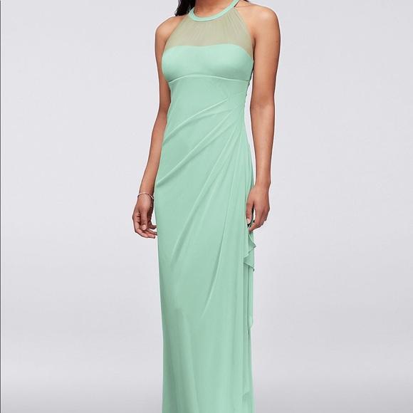 Long Mint Bridesmaid Dresses | David S Bridal Dresses Davids Bridal Long Mint Bridesmaid Dress